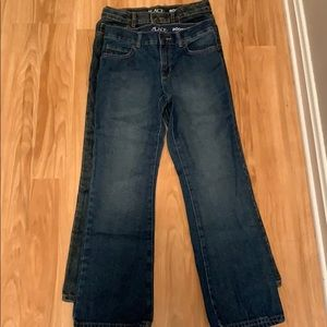 2 pairs of children's place denim jeans